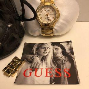 Gold Guess watch ✨